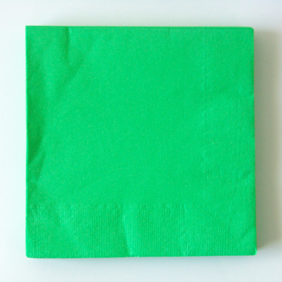serviette-jetable-vert