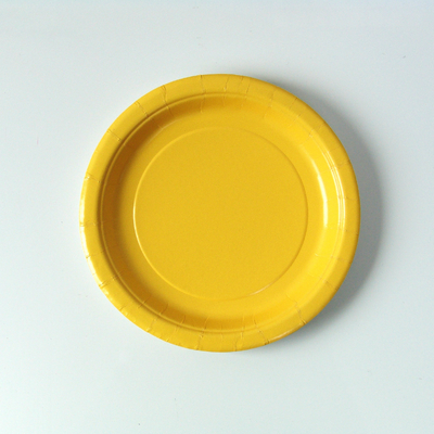8 assiettes dessert jaune tournesol