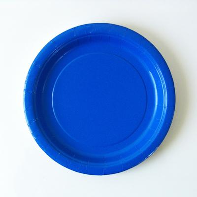 assiette-jetable-carton-bleu