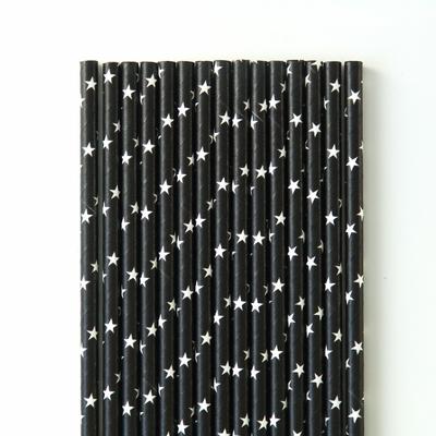 paille-papier-noir-etoile