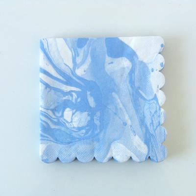 serviette-jetable-marbre-bleu