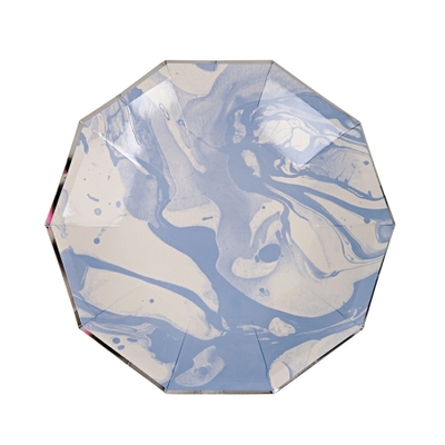 assiette-jetable-marbree-bleu-meri-meri