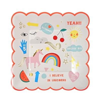 assiette-jetable-anniversaire-licorne