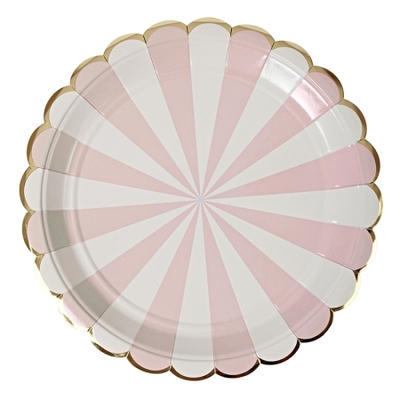 assiette-carton-rayures-rose-meri-meri
