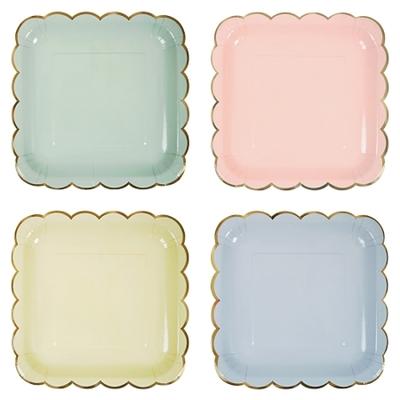 assiette-jetable-carre-pastel