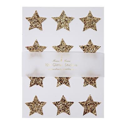 stickers-etoile-paillettes-dorées