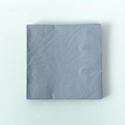 serviette-jetable-papier-gris-argent