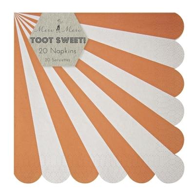 serviette-jetable-papier-rayures-orange-meri-meri