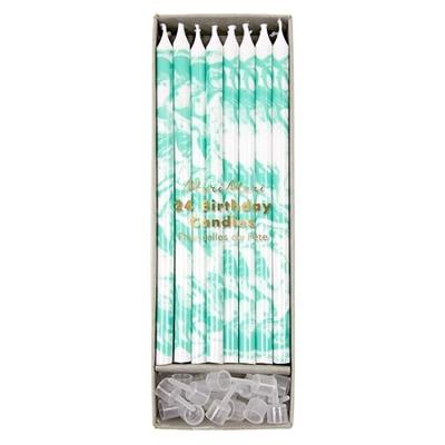 bougie-anniversaire-marbre-vert-menthe-meri-meri