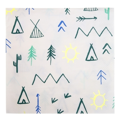 serviette-papier-explorons-anniversaire-aventurier-meri-meri