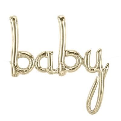 ballon-baby-lettre-cursive-script-dore