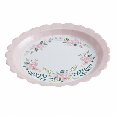 assiette-jetable-carton-fleurs-ginger-ray