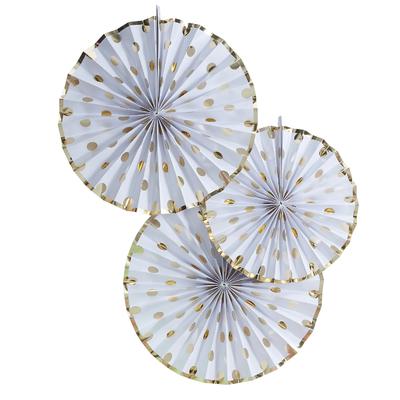 rosace-en-papier-rigide-blanc-a-pois-dore-ginger-ray