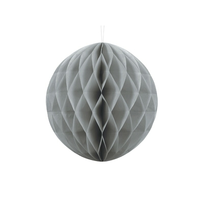 boule-alveole-en-papier-gris-30 cm