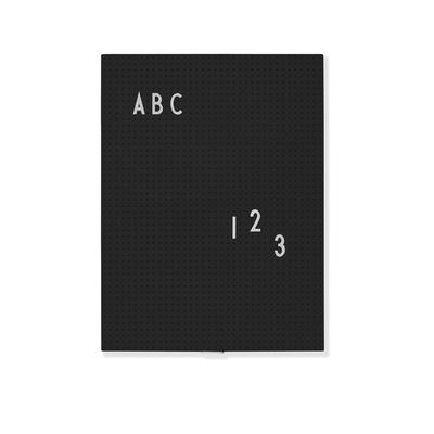 message-board-tableau-message-a4-noir-design-letters