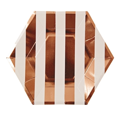 assiette-table-de-fete-en-carton-jetable-rayures-rose-gold-metallise-meri-meri