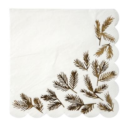 serviette-papier-table-noel-blanc-dore-meri-meri