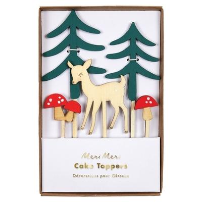 decoration-en-bois-pour-gateau-buche-de-noel-animaux-de-la-foret-meri-meri