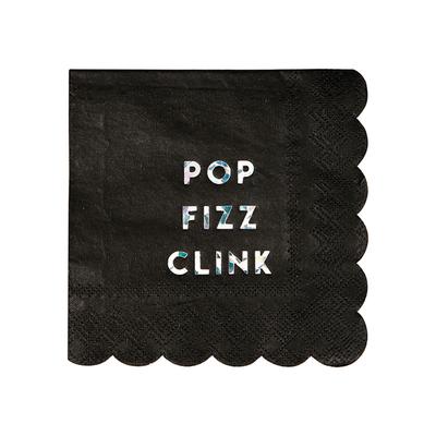 serviette-papier-jetable-noir-hologaphique-meri-meri