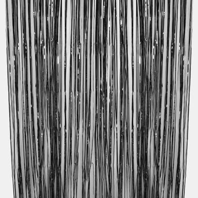 rideau-a-frange-metallise-noir-ginger-ray