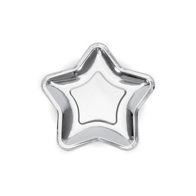 assiette-jetable-etoile-en-carton-argent-metallise