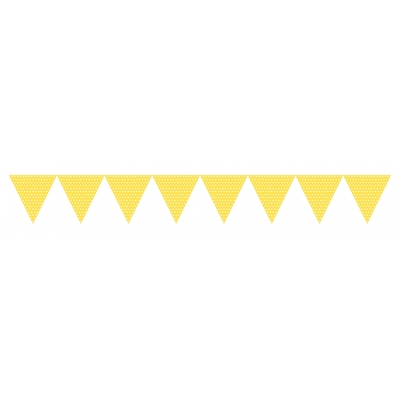 guirlande-fanions-jaune-pois-blanc