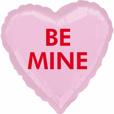 ballon-mylar-coeur-rose-be-mine