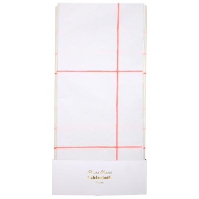 nappe-en-papier-jetable-blanche-a-carreaux-corail-meri-meri