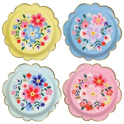 assiette-carton-imprime-fleurs-cachemire-meri-meri