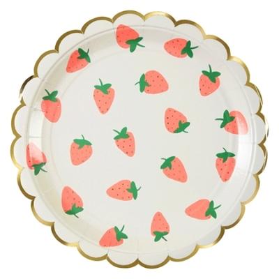 assiette-jetable-carton-imprime-fraise-meri-meri