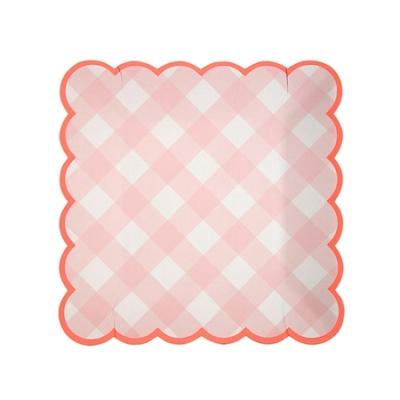 assiette-jetable-vichy-rose-meri-meri