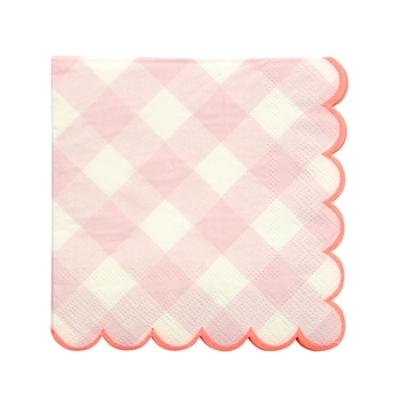 serviette-papier-imprime-vichy-rose-meri-meri