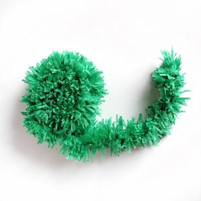 Guirlande à franges vert foncé