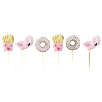 bougie-anniversaire-flamant-rose-frite-et-donut-ginger-ray