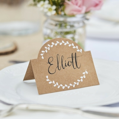 marque-place-table-fete-mariage-en-kraft-ginger-ray