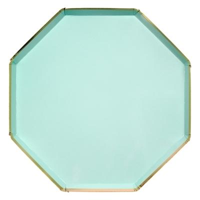 assiette-jetable-vert-menthe-de-forme-octogonale-en-carton-meri-meri