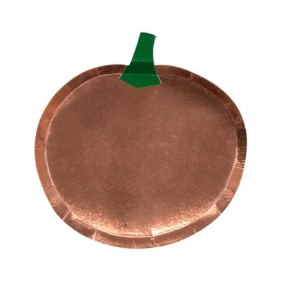 assiette-citrouille-halloween-en-carton-rose-gold-meri-meri