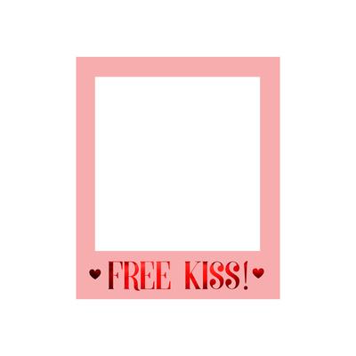 cadre-photobooth-polaroid-free-kiss-pour-serlfie-en-carton-mariage-evjf-saint-valentin
