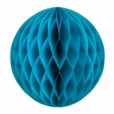 boule-papier-alveole-bleu-canard-decoration-fete