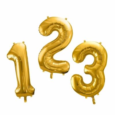 Ballon chiffre doré - 86 cm