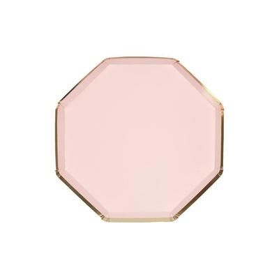 assiette-jetable-rose-blush-et-dore-taille-cocktail-en-carton-meri-meri