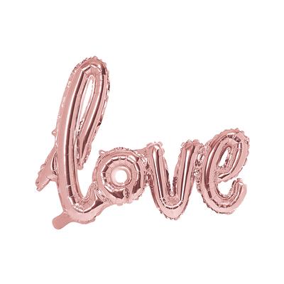 Ballon mylar Love rose gold