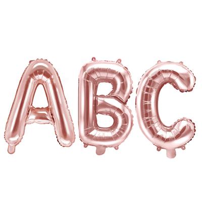 Ballon lettre rose gold - 35 cm