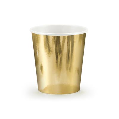 6 gobelets carton doré