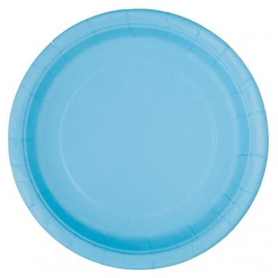 8 assiettes dessert bleu clair