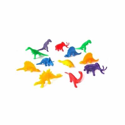 12 figurines dinosaures plastique 5 cm