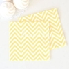 20 serviettes jetables chevron