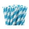 pailles-retro-papier-rayures-bleu-turquoise