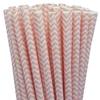 pailles-papier-chevrons-rose-clair