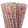 Pailles papier à fleurs liberty